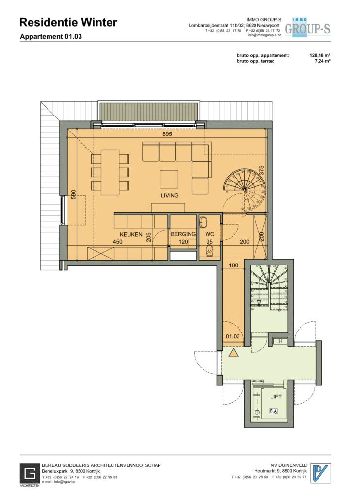 Gelijkvloers Nieuwpoort Appartement
