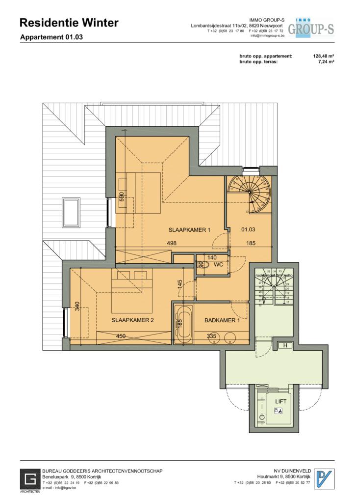 Eerste verdieping Nieuwpoort Appartement